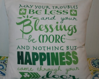 Irish Blessing 18X18 Decorative Pillow Cover