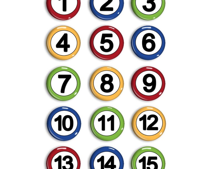 Student Number Magnets - Attendance Magnets - Calendar Magnets - Counting Practice - Early Math - Home-school Family - Preschool Learning