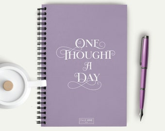 Thoughts Notebook, Notes Diary, Daily Thought, Thought a Day, Bullet Journal, Self Gratitude, Daily Planner, Diary, Notes Journal, 18025SNB