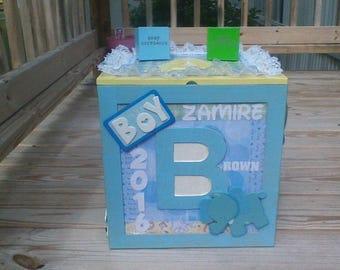 Personalized Keepsake Baby box, Keepsake box, Nursery blocks