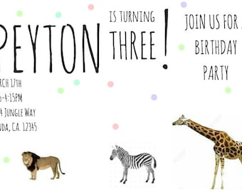 Animal Party Invitation