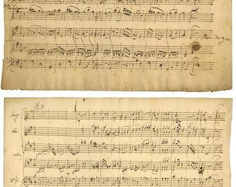 Mozart Manuscript, 6 Menuette, K. 164, 1 & 2, 1772