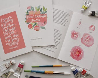 Floral Watercolor Basics Booklet