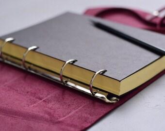 Leather Notebook Refill, Ring binder refill, 4 ring binder refill