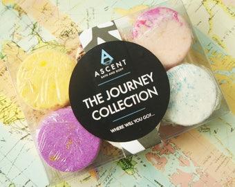 Journey Collection mini bath bomb pack, mini bath bombs, bombettes, sampler set,