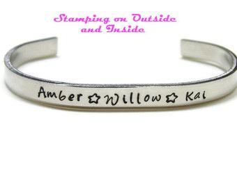 Custom Name Bracelet; Personalized Name Bracelet; Name Cuff Bracelet; Children's Name Bracelet; Mother's Day Personalized; Custom Cuff