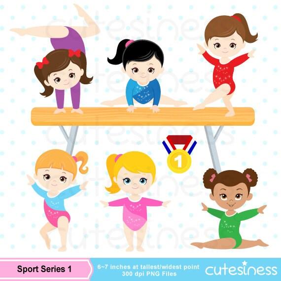 Gymnastic clipart clip art girl