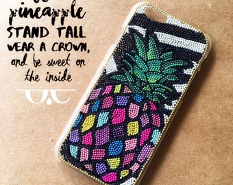 Pineapple Phone Case Pineapple iPhone Case Pinapple iphone 6S Pineapple Samsung iphone 7 plus Phone Case Colorful  Phone Case Summer iPhone