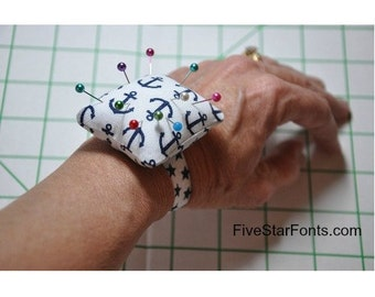 5 Different Wrist Pin Cushions In the Hoop Fits 4x4 Hoop  Machine Embroidery Designs