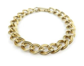 Vintage, Link Bracelet, Gold Tone, STI97