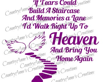 SVG PNG DXF Eps Ai Wpc Cut file for Silhouette, Cricut, Pazzles, ScanNCut - Stairs to Heaven svg