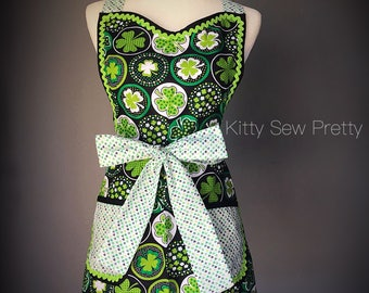 Kiss the Cook she's Irish St. Patrick's Day Inspired Apron