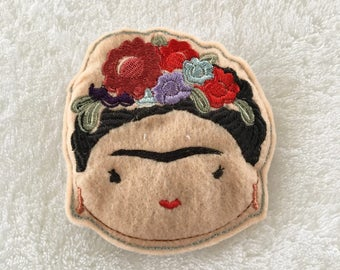 Frida Kahlo Catnip Toy- Embroidered Cat Toy