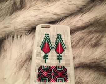 Hand stitched iphone case