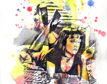 Mia Wallace From Pulp Fiction Art Print Watercolor Painting Movie Poster Pop