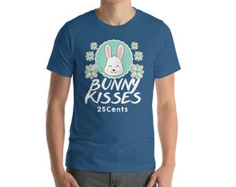 Bunny kisses - 25 cents - easter bunny shirt - happy easter - easter bunny gift - easter bunny tee - gift easter - easter gift idea - easter