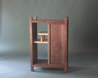 Tall Narrow Armoire Cabinet In Cherry Handmade Custom Wood