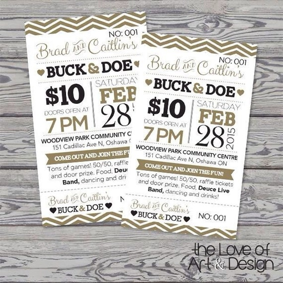 Jack And Jill Tickets Buck And Doe Stag And Doe Raffle