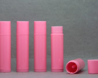 Empty LIP BALM Tubes Containers Pink  0.15oz (package of 10/50/100/300)