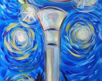 Starry Night Beach Ball, Pensacola Beach Art, Gulf Coast Icon, Pcola Landmark Painting, Northwest Florida, Panhandle Pride