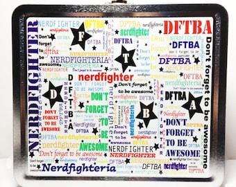 Rainbow DFTBA Nerdfighter Lunch Box