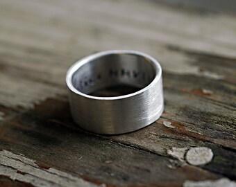 Silver Wedding Band - Modern Wedding Ring - Mens Ring - Mens Wedding Band - Unisex Wide Wedding Ring - Guy Ring - EcoFriendly - custom R4038