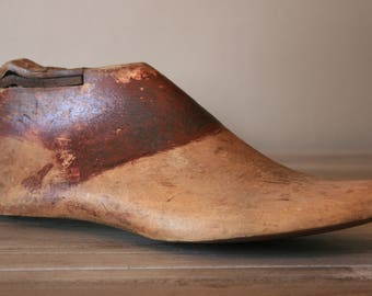 Aged Wooden Shoe Form / Vintage Shoe Form / Industrial Decor