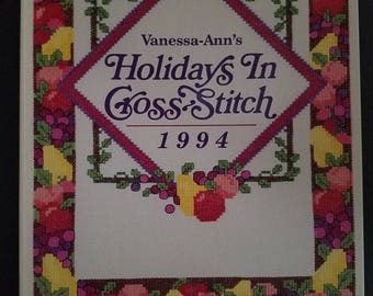 Vanessa Ann's holidays in cross stitch 1994 145 page book