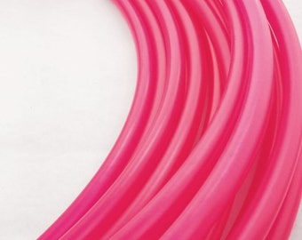 Hot Pink 5/8 HDPE Hula Hoop// Customizable//Super Light Weight//Trick Hoop//Dance Hoop