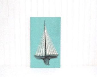 Vintage String Art Sail Boat, Nautical Wall Hanging