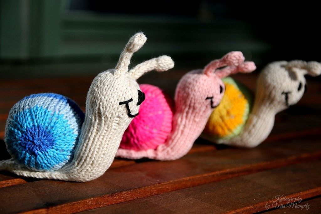 Snail knitting pattern for beginners and advanced knitters spring this is a digital file negle Images