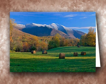 Three Seasons Greeting Card.  Mt. Mansfield, Vermont
