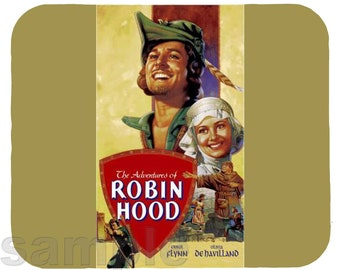Mouse Pad; Errol Flynn And Olivia De Havilland As Robin Hood And Maid Marian
