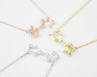 Scorpio constellation necklace zodiac constellation rose gold scorpio constellation necklacescorpio necklace zodiac scorpioscorpio pendant constellation mozeypictures Images