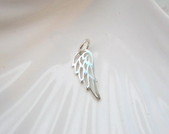 Sterling Silver Angel Wing Charm - Add On - Remembrance - Memorial