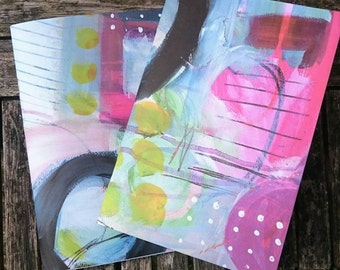 2 Handmade A5 Notebooks - Painters Set