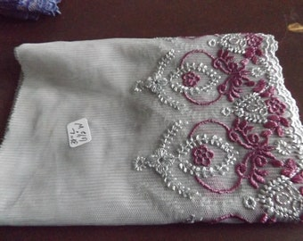 Light Gray embroidered Lace