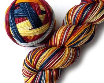 SALE Self Striping MCN Sock Yarn Handdyed Merino Cashmere Nylon Yarn - Playful