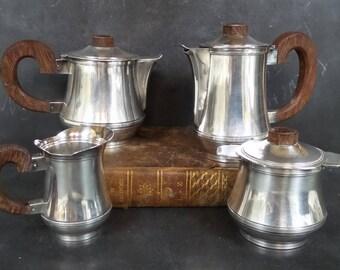 Silver plated Tea and Coffee Set. Art Deco . French vintage. Tea set . Coffee set . Mid Century Modern