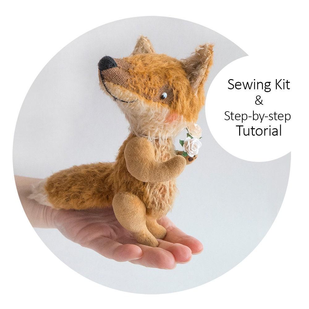 Nähen-Kit Teddy Fox mit Anleitung und Schnittmuster DIY