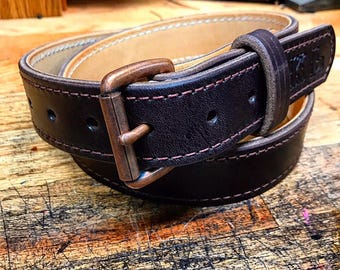 Handmade Leather Casual Leather Belt / Havana