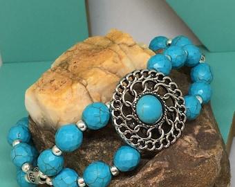 Southwest Turquoise Beaded Bracelet