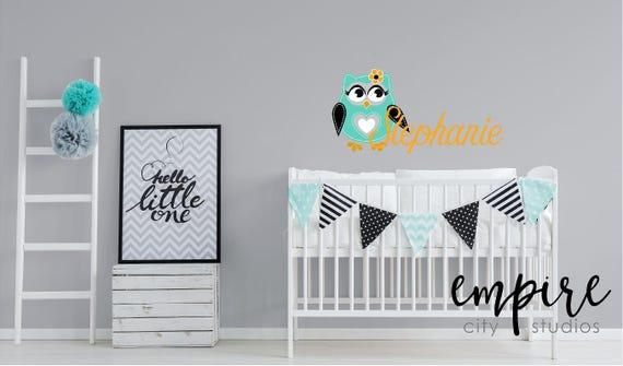 Teal Owl with Custom Name