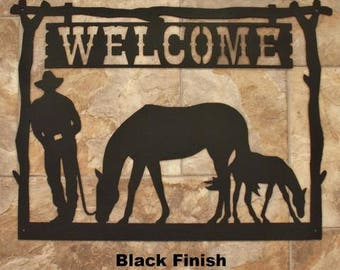 Cowboy Welcome Sign  SN10