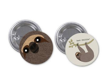 Sloth Badges - pack of 2