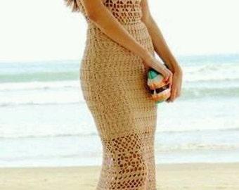 Full Length Crocheted Formal Dress - Made to Order