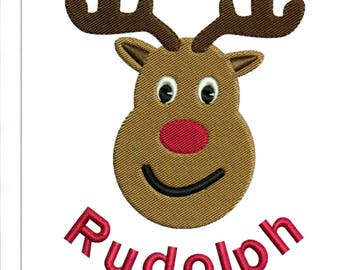 Embroidery Designs Rudolph Christmas Reindeer Machine Embroidery