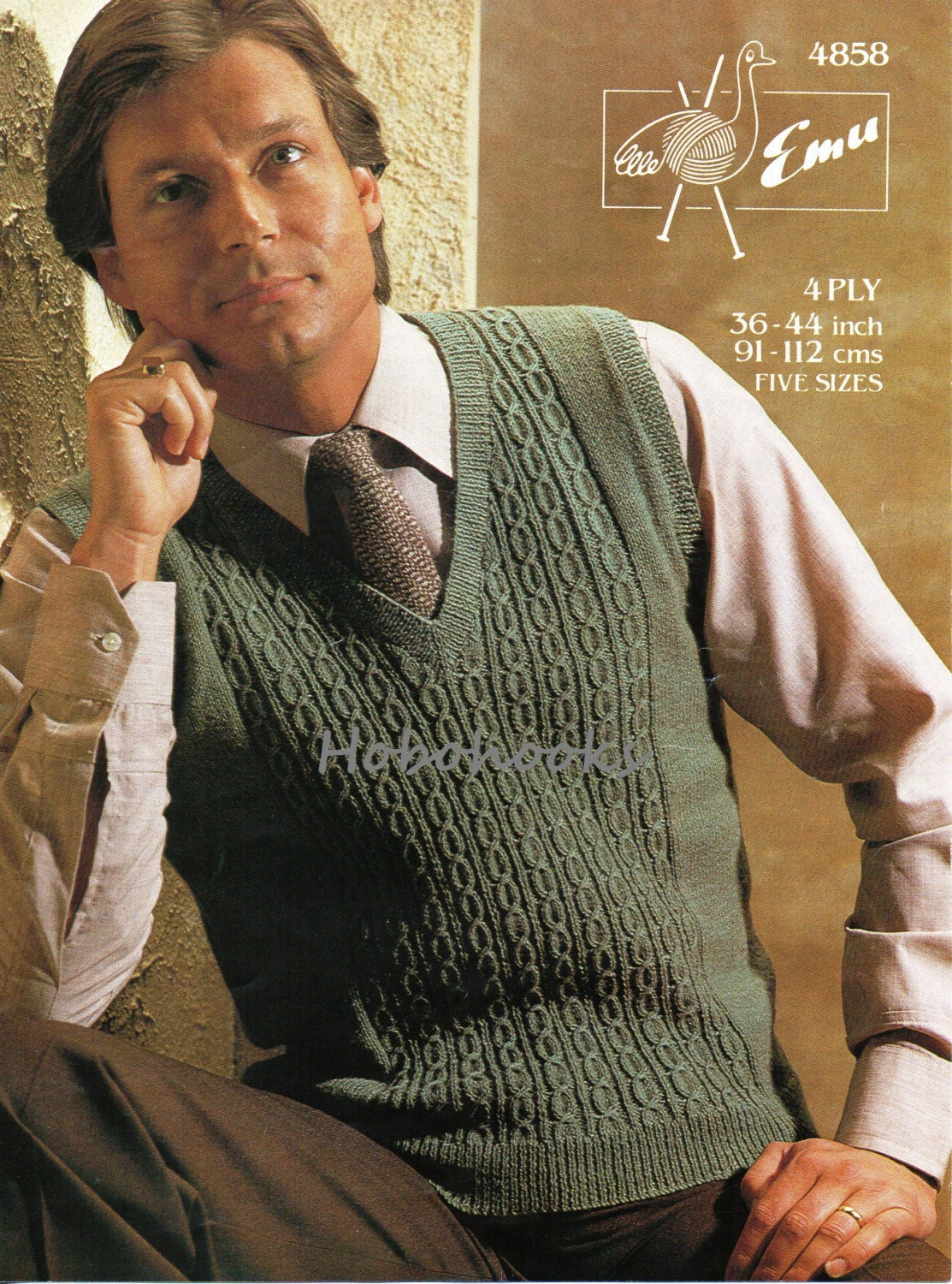 Mens Knitting Pattern Mens Slipover Mens Pullover Pattern
