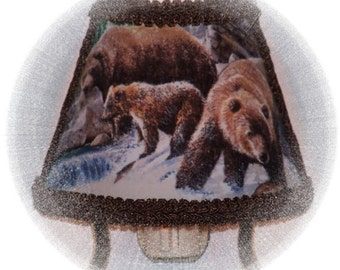 Wilderness Grizzly Bear  NIGHT LIGHT Woodland Lodge Cabin Fishermens GIFT