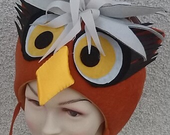 Orange owl costume for toddlers, kids and adults